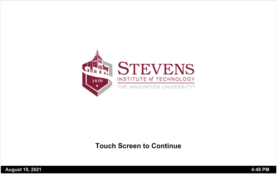 touch-panel main screen