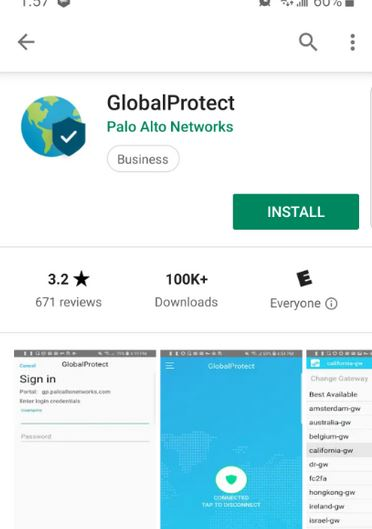 global protect in the app store