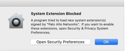 Open Security and Preferences